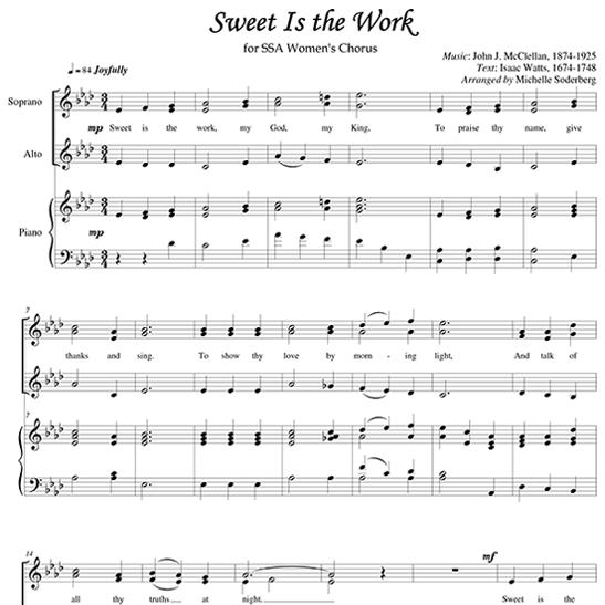 Sweet is the WorkSheet Music – The Work Worksheet